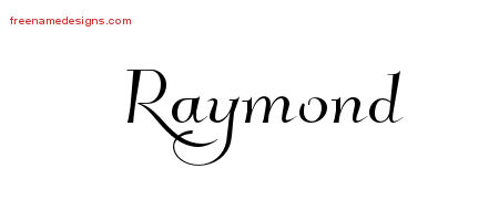 Raymond Elegant Name Tattoo Designs