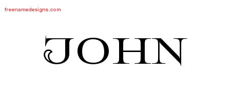 John Flourishes Name Tattoo Designs