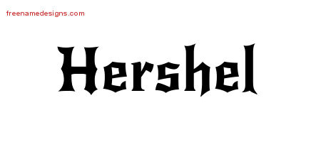 Hershel Gothic Name Tattoo Designs
