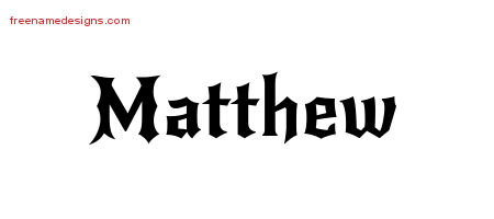 gothic name tattoo designs matthew download free free name designs. Black Bedroom Furniture Sets. Home Design Ideas