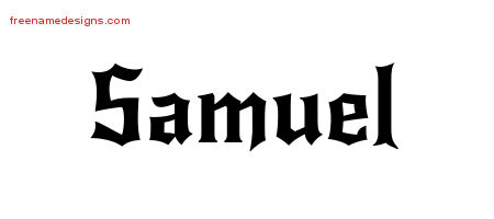 Gothic Name Tattoo Designs Samuel Download Free - Free ...