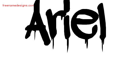 graffiti name tattoo designs ariel free free name designs. Black Bedroom Furniture Sets. Home Design Ideas