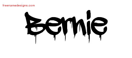 Bernie Graffiti Name Tattoo Designs
