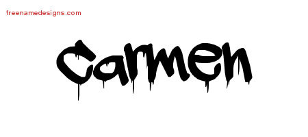 Carmen Graffiti Name Tattoo Designs