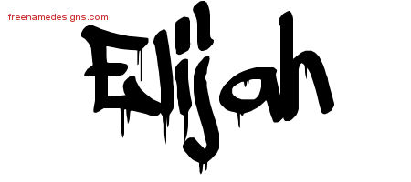 graffiti name tattoo designs elijah free free name designs. Black Bedroom Furniture Sets. Home Design Ideas