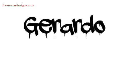 Graffiti Name Tattoo Designs Gerardo Free