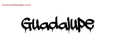 Guadalupe Graffiti Name Tattoo Designs