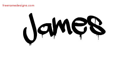 James Graffiti Name Tattoo Designs
