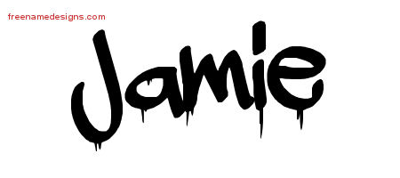 graffiti name tattoo designs jamie free free name designs. Black Bedroom Furniture Sets. Home Design Ideas