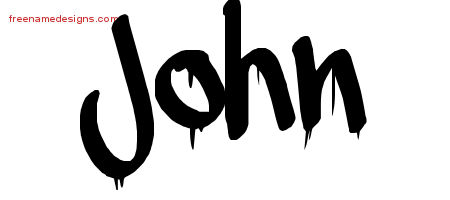 John Graffiti Name Tattoo Designs