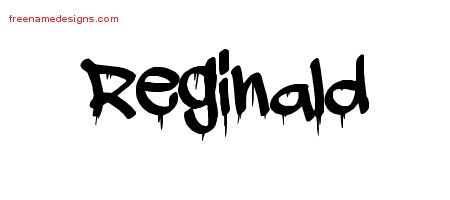 Reginald Graffiti Name Tattoo Designs