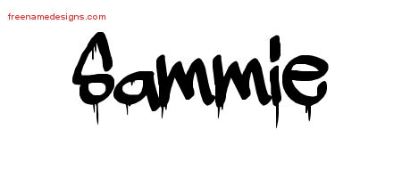 Sammie Graffiti Name Tattoo Designs