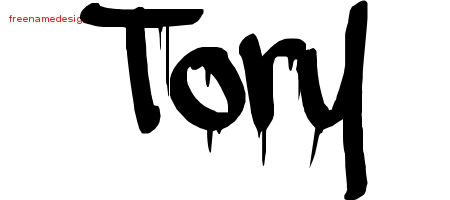 Tory Graffiti Name Tattoo Designs