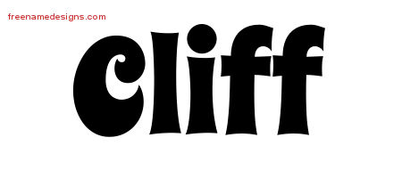 Cliff Groovy Name Tattoo Designs
