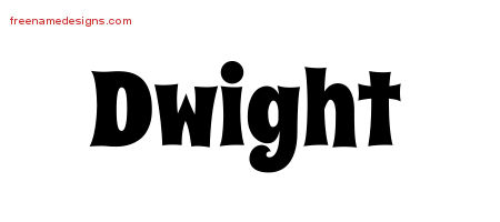 Dwight Groovy Name Tattoo Designs