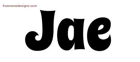 Jae Groovy Name Tattoo Designs
