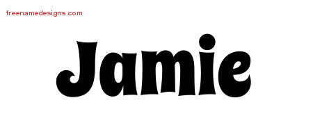 groovy name tattoo designs jamie free free name designs. Black Bedroom Furniture Sets. Home Design Ideas