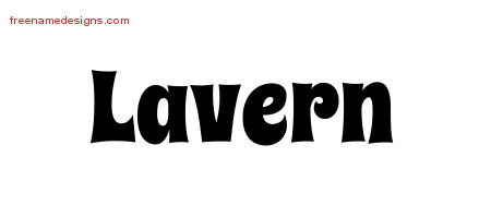 Lavern Groovy Name Tattoo Designs