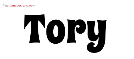 Tory Groovy Name Tattoo Designs