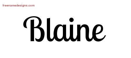Blaine Handwritten Name Tattoo Designs