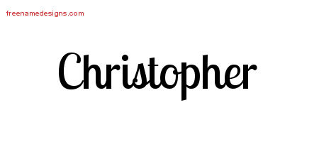 Christopher Handwritten Name Tattoo Designs