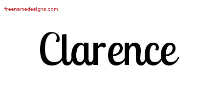 Clarence Handwritten Name Tattoo Designs