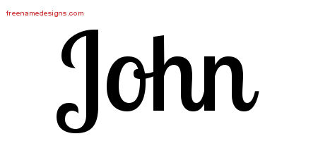 John Handwritten Name Tattoo Designs
