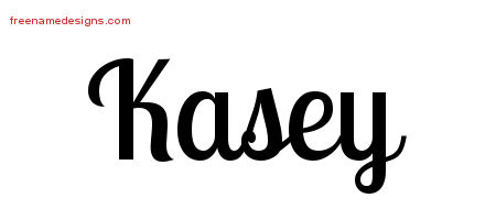 Kasey Handwritten Name Tattoo Designs