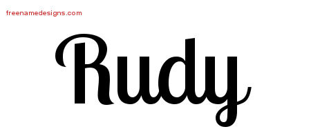 Rudy Handwritten Name Tattoo Designs