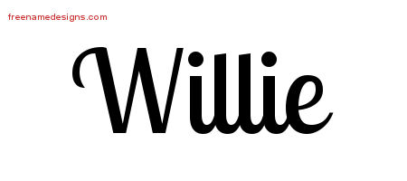 Willie Handwritten Name Tattoo Designs