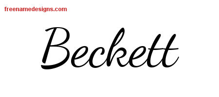 Lively Script Name Tattoo Designs Beckett Free Download ...