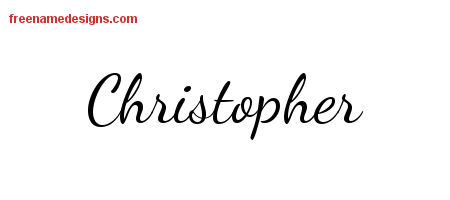 Christopher Lively Script Name Tattoo Designs