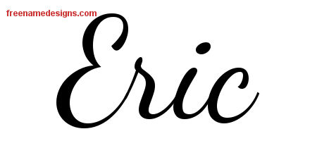 Eric Lively Script Name Tattoo Designs