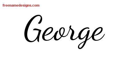 lively script name tattoo designs george free download free name designs. Black Bedroom Furniture Sets. Home Design Ideas