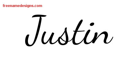 Name Justin Tattoos Justin Lively Script Name