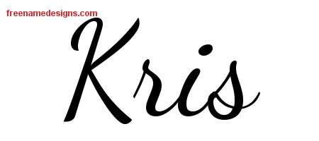 Kris Lively Script Name Tattoo Designs