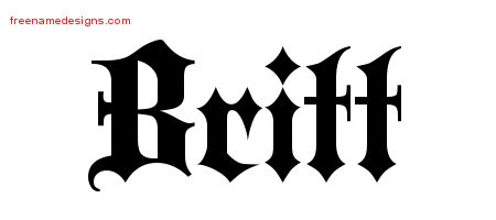 Britt Old English Name Tattoo Designs