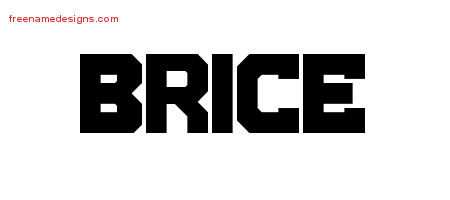 Brice Titling Name Tattoo Designs