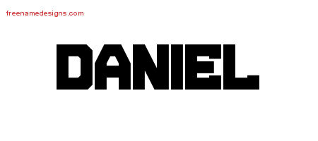 Daniel Titling Name Tattoo Designs