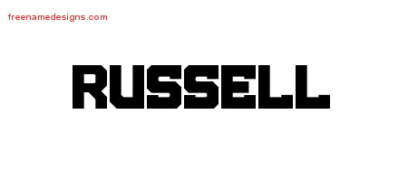 Russell Titling Name Tattoo Designs