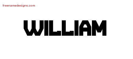 William Titling Name Tattoo Designs