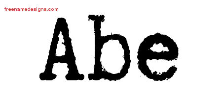 Abe Typewriter Name Tattoo Designs