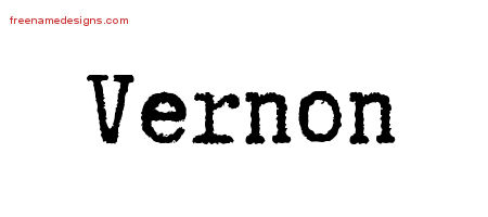 Vernon Typewriter Name Tattoo Designs