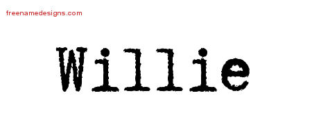 Willie Typewriter Name Tattoo Designs