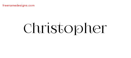 Christopher Vintage Name Tattoo Designs