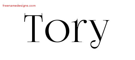 Tory Vintage Name Tattoo Designs