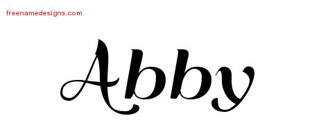 How to write abby in cursive
