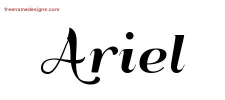 art deco name tattoo designs ariel printable free name designs. Black Bedroom Furniture Sets. Home Design Ideas
