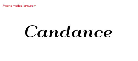 Candance Art Deco Name Tattoo Designs