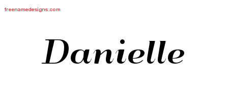 art deco name tattoo designs danielle printable free name designs. Black Bedroom Furniture Sets. Home Design Ideas